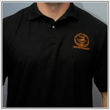Clothing - Guy Polo (logo) (black)