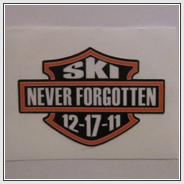 Ski Never Forgotten Sticker